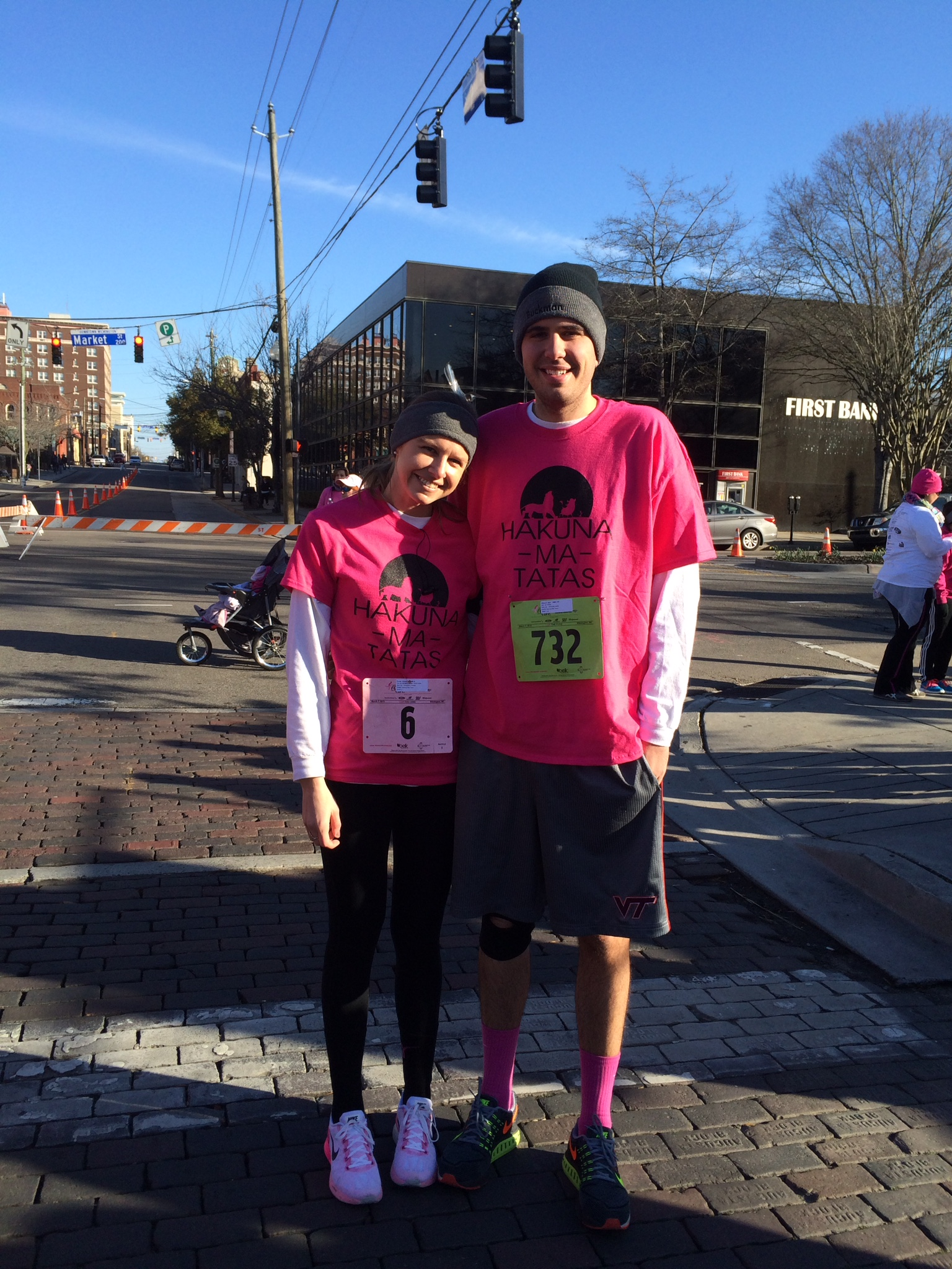 Amanda and Kyle Johnson at 2015 Susan G. Komen Wilmington Race for the Cure